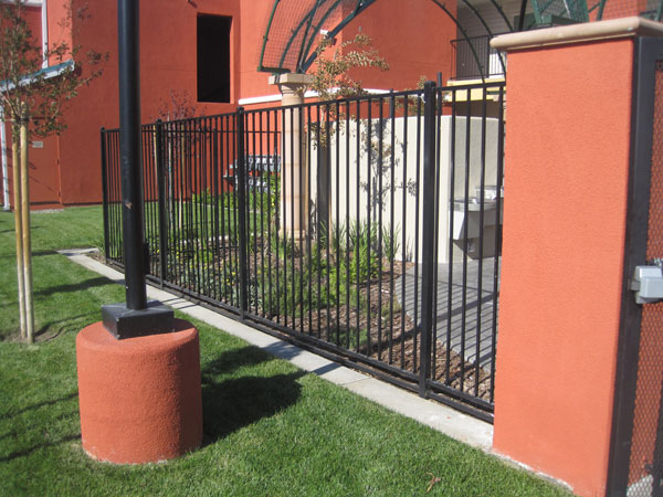 Commercial Wrought Iron Fence San Rafael